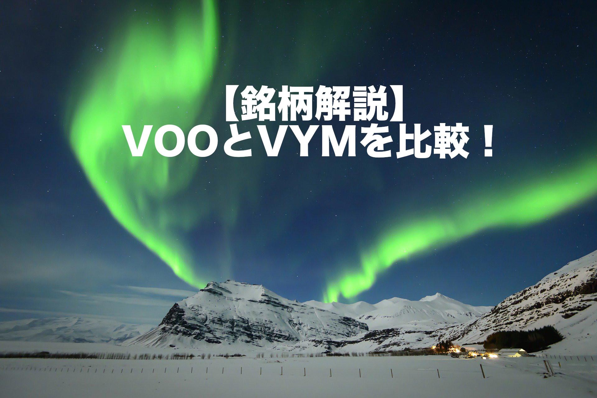 【銘柄解説】VOOとVYMを比較!